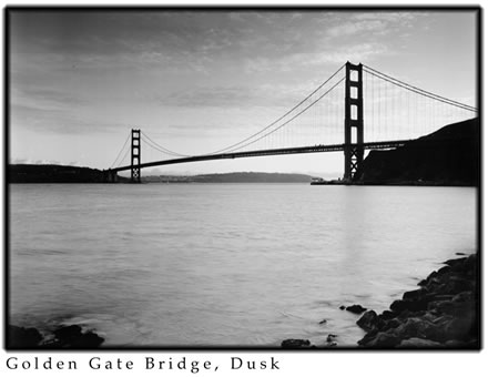 Alan  Ross - Golden Gate Bridge at Dusk