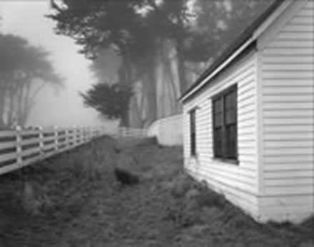 Alan  Ross - Farm Buildings and Fog, Point Reyes, CA
