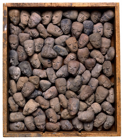 Joseph McDonald - Untltled (Ceramic heads in box)
